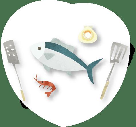 スリジェおまかせ魚料理の画像